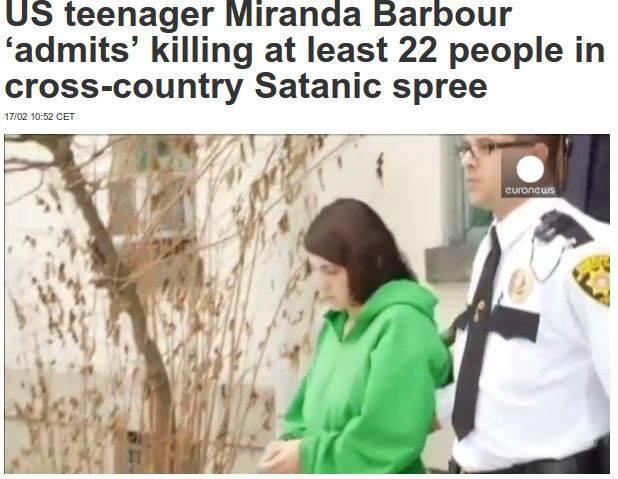 """Usa, rivelazioni choc di una detenuta satanista: """"Ho ucciso almeno 22 persone"""""""