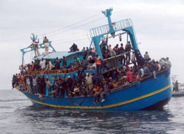 Barcone carico di migranti  (Getty Images)