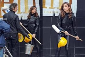 Sanremo 2011, Elisabetta Canalis registra il primo spot