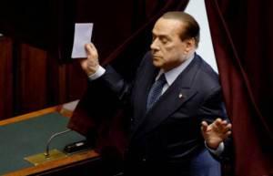 Silvio Berlusconi in Parlamento (ANDREAS SOLARO/AFP/Getty Images)