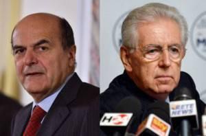 Pier Luigi Bersani e Mario Monti (Getty Images)