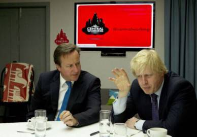David Cameron(Sx) e Boris Johnson, a destra (Getty Images)