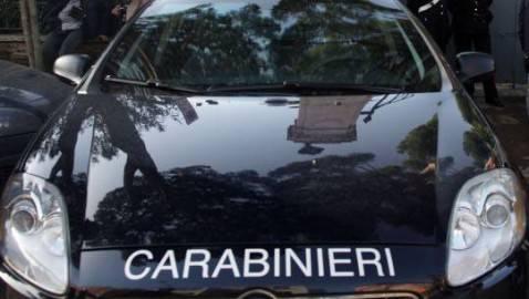 Particolare di un'auto dei carabinieri (Getty Images)