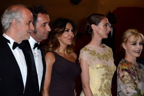 Paolo Sorrentino col cast de 'La grande bellezza' (Getty Images)