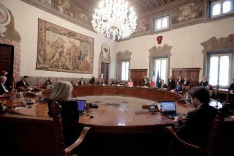 Il CdM guidato da Matteo Renzi (Elisabetta Villa/Getty Images)
