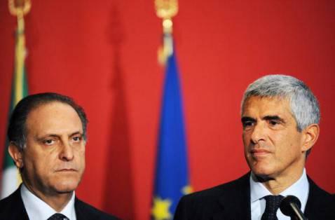 Cesa e Casini (VINCENZO PINTO/AFP/Getty Images)