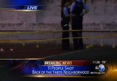 Chicago, polizia nel parco (screen shot youtube)