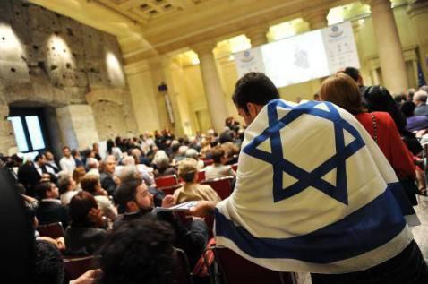 La Stella di David nella comunità ebraica di Roma (ANDREAS SOLARO/AFP/Getty Images)