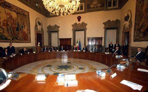 Consiglio dei Ministri. Governo Monti