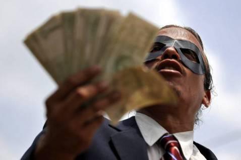 Flash mob contro la corruzione (LUIS ROBAYO/AFP/Getty Images)