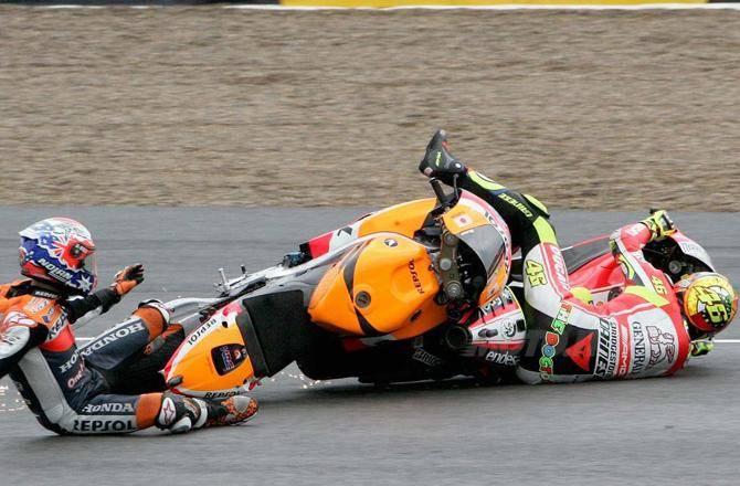 """Moto Gp, Rossi polemico con Stoner: """"Non sa chi sono"""""""