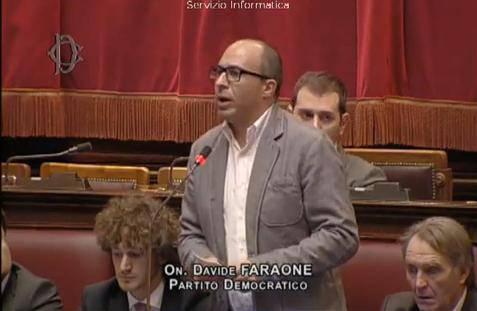 Davide Faraone (screenshot Tv Camera dei Deputati)