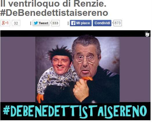 """Grillo:  da De Benedetti """"ventriloquo di Renzi"""" a Sallusti """"giornalista del giorno"""""""