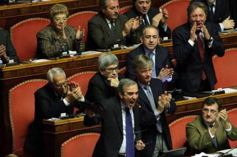Maurizio Gasparri al Senato (Franco Origlia/Getty Images)