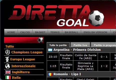 Direttagoal It Tutti I Risultati Del Calcio E Dei Piu Importanti Eventi Sportivi In Tempo Reale Anche Su Facebook