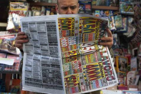Disoccupato alla ricerca di lavoro (CONTROLUCE/AFP/GettyImages)