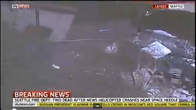 Seattle: elicottero si schianta in centro, almeno due vittime