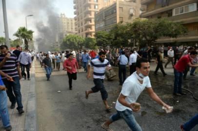 Scontri al Cairo tra sostenitori dei Fratelli Muslmani e polizia (KHALED DESOUKI/AFP/Getty Images)