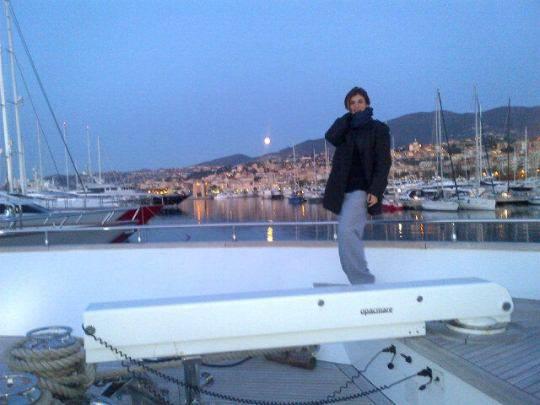 Elisabetta Canalis: sveglia all'alba su yacht a Sanremo, oggi secondo giorno di prove