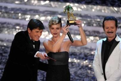 emma marrone sanremo 20121 406x270 Festival Sanremo 2012: Emma Marrone regina dellAriston, Non è linferno ma è il paradiso