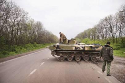 Esercito russo a Sloviansk, est Ucraina (Scott Olson/Getty Images)