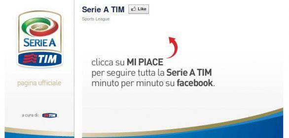 Apre su Facebook la pagina del campionato di Serie A