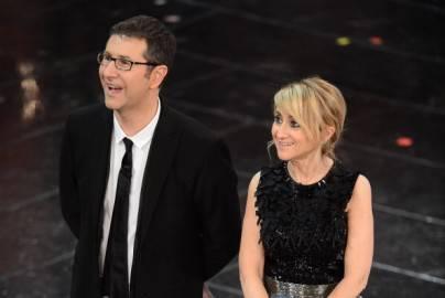 Fabio Fazio e Luciana Littizzetto al Festival di Sanremo 2013 (Getty images)
