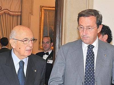 Giorgio Napolitano e Gianfranco Fini