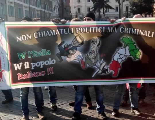 Presidio Forconi a Roma: disoccupati, negozianti, imprenditori e studenti in piazza