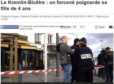 Notizia dell'aggressione riportata dai media francesi (screen shot Le Parisien.fr)