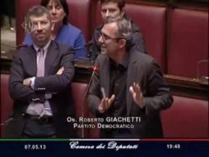 Roberto Giachetti (screenshot tv Camera dei deputati)