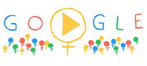 Doole di Google per Festa della Donna (sceen shot homepage Google)