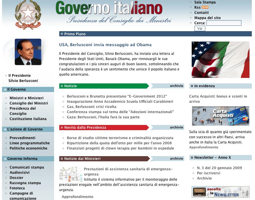 Attacco hacker contro il sito web del governo nessun for Sito governo italiano