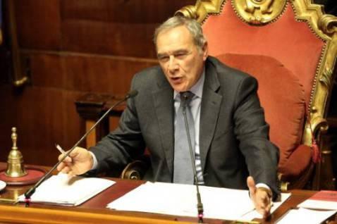 Pietro Grasso in Senato (Franco Origlia/Getty Images)