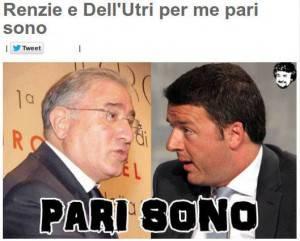 Fotomontaggio Dell'Utri Renzi, pubblicato sul blog di Beppe Grillo (screen shot youtube)