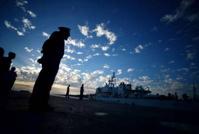 Guardia Costiera a Lampedusa (Getty images)