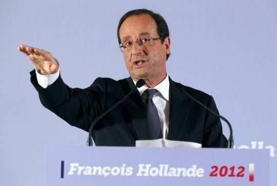 hollande e1327233209771 Presidenziali in Francia: Hollande ancora in testa ai sondaggi