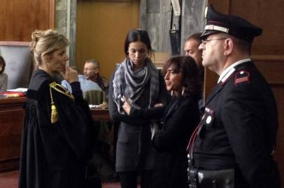 Karima El-Mahroug in un'udienza (OLIVIER MORIN/AFP/Getty Images)