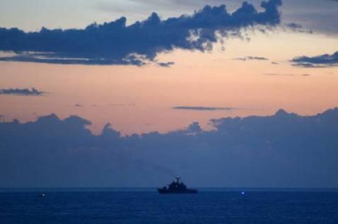 Una nave militare nel Canale di Sicilia (ALBERTO PIZZOLI/AFP/Getty Images)