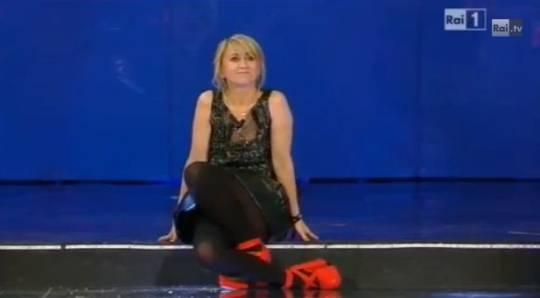 Sanremo 2013: il monologo di Luciana Littizzetto per San Valentino e il flash mob one billion rising