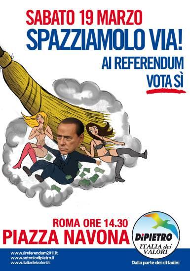 Roma, Idv: lancio della campagna referendaria sabato prossimo a piazza Navona