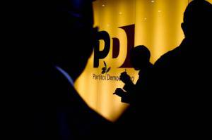 Il logo del Partito Democratico (FILIPPO MONTEFORTE/AFP/Getty Images)