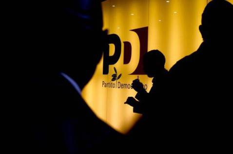 Il logo del Partito Democratico (FILIPPO MONTEFORTE/AFP/Getty Images)