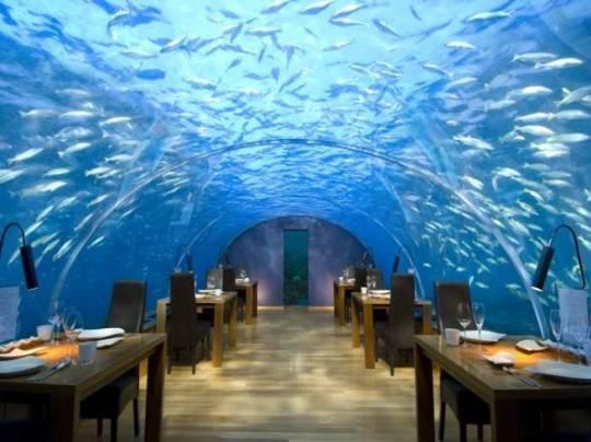E' nato il primo ristorante sotto l'acqua. E' alle Maldive