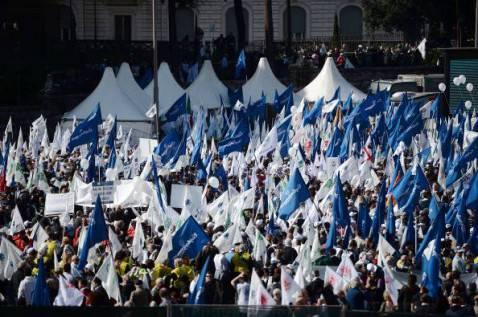 Manifestazione di Rete Imprese Italia (FILIPPO MONTEFORTE/AFP/Getty Images)