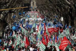 Manifestazione sindacale (DIMITAR DILKOFF/AFP/Getty Images)