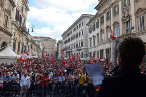 Manifestazione di Sel (VINCENZO PINTO/AFP/Getty Images)