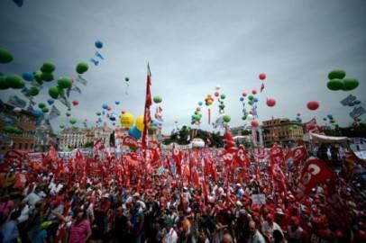 Manifestazione della Cgil a Roma (FILIPPO MONTEFORTE/AFP/Getty Images)