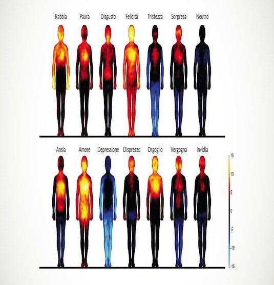 La mappa delle emozioni: Ecco come reagisce ogni parte del nostro corpo