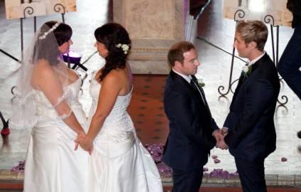 Cerimonie di matrimoni omosessuali (Getty images)